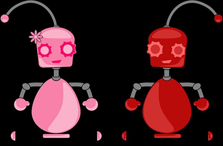 2体のロボット
