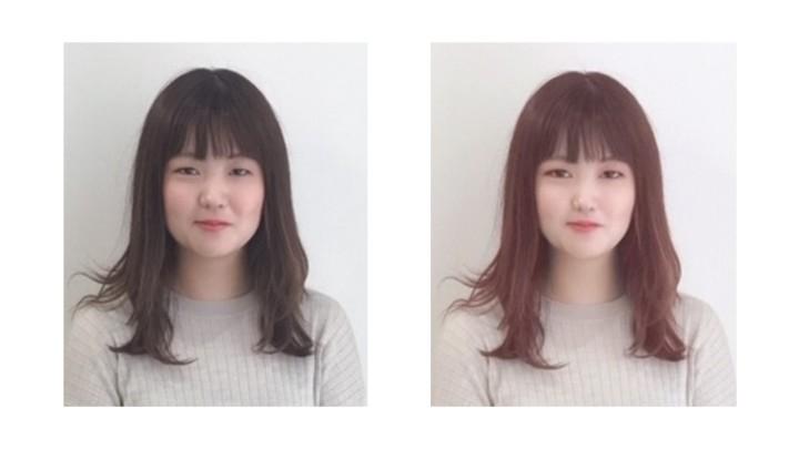 写真アプリによる顔写真のビフォーアフター