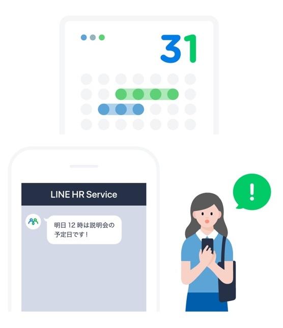 写真:選考フェーズ(LINE採用コネクト)