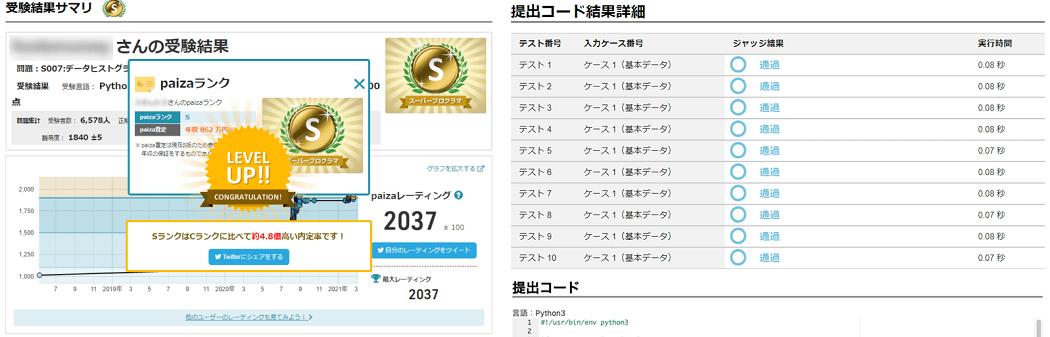 画像:特許取得の独自プログラミングスキル評価機能「paizaスキルチェック」の総受験回数が1500万回を突破(paiza株式会社)